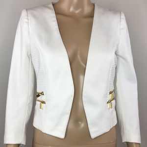 H&M White open front blazer size 6 women